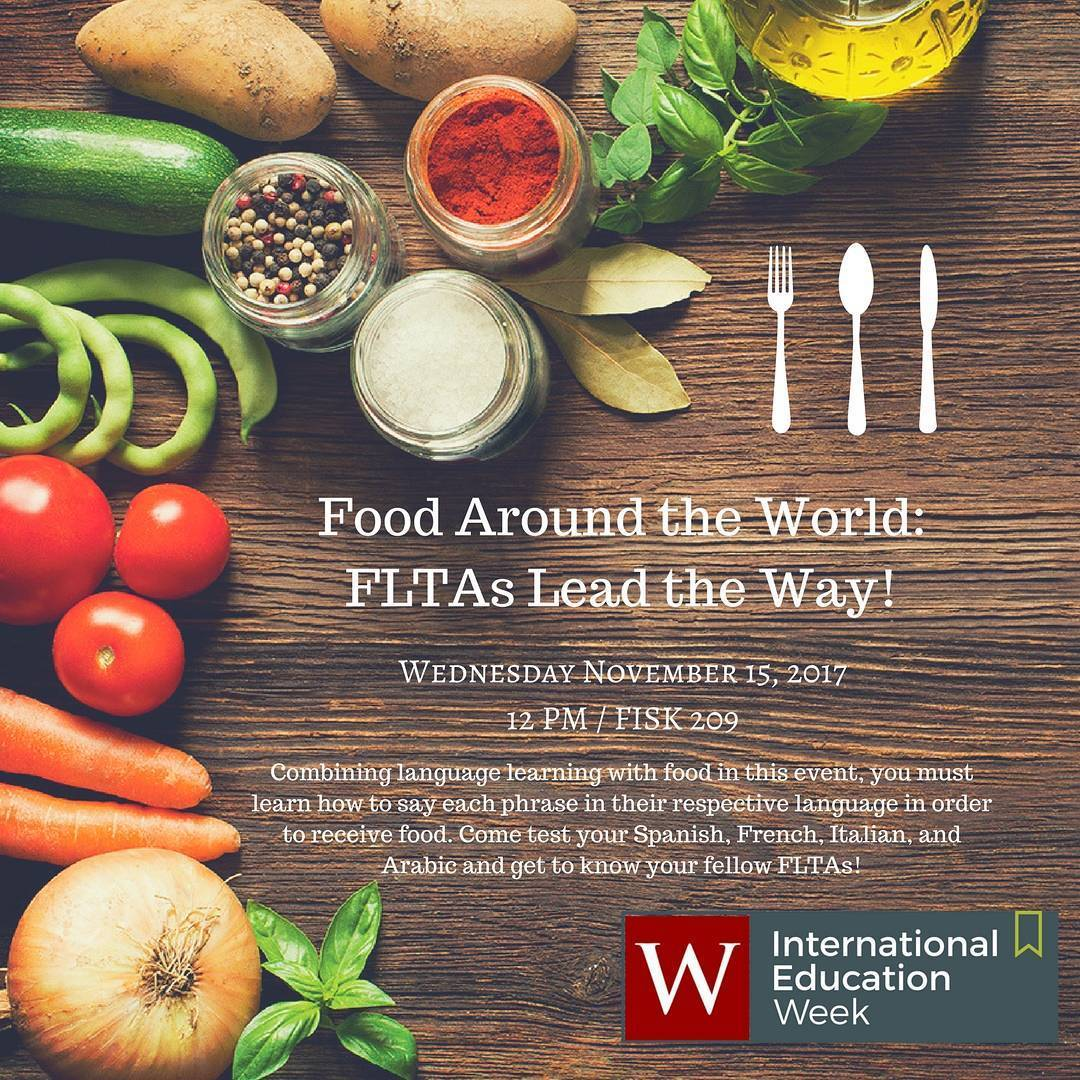 test Twitter Media - Today at noon: Food Around the World in Fisk 204. #IEW2017 🌎    https://t.co/MvjjAz9nyC https://t.co/rFCmQaNnhN