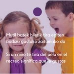 Txikitatik berdintasunean hezi behar ditugu/ La educación empieza en la infancia #A25 #25N #hezkidetza @BeldurBarik https://t.co/qZ7Nld5zQ1