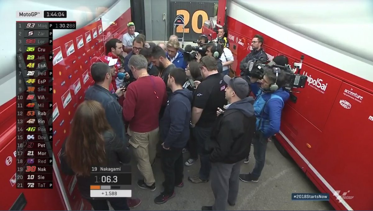 test Twitter Media - Looks like @AndreaDovizioso is done for the day as he chats to the media #2017StartsNow https://t.co/6l67vMy9xd