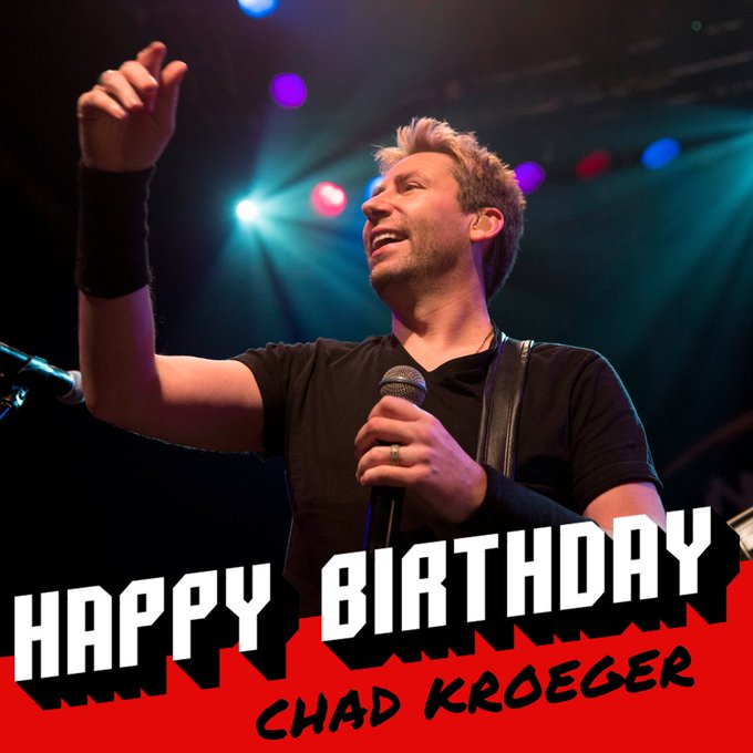Happy 43rd birthday to Chad Kroeger!