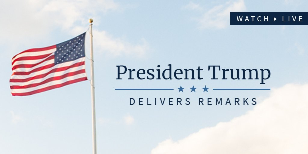 Watch LIVE as President Trump delivers remarks on his trip to Asia: https://t.co/JxVdwO4NQp https://t.co/5Z1pWZYKSQ
