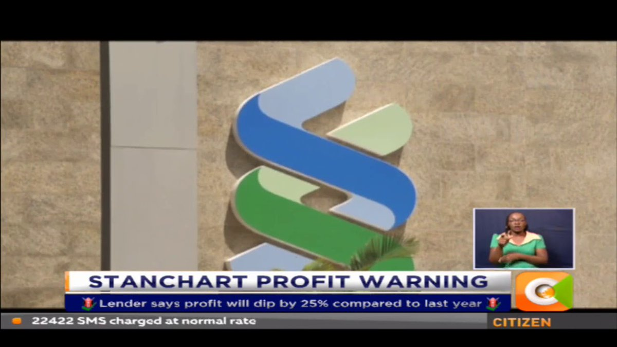 Stanchart Bank issue profit warning