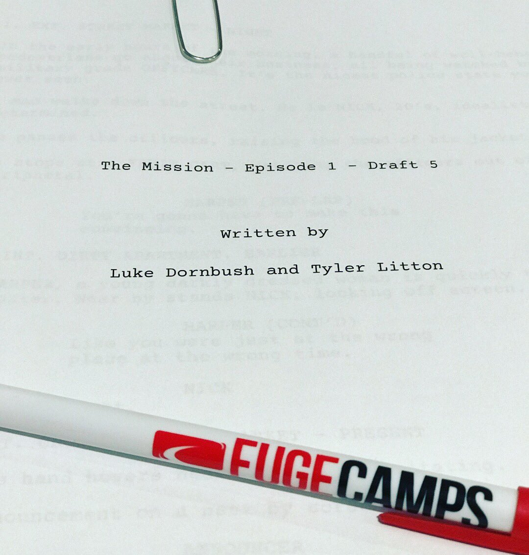test Twitter Media - Today is the official table reading of the script for The Mission! https://t.co/b2c1GCiLGD