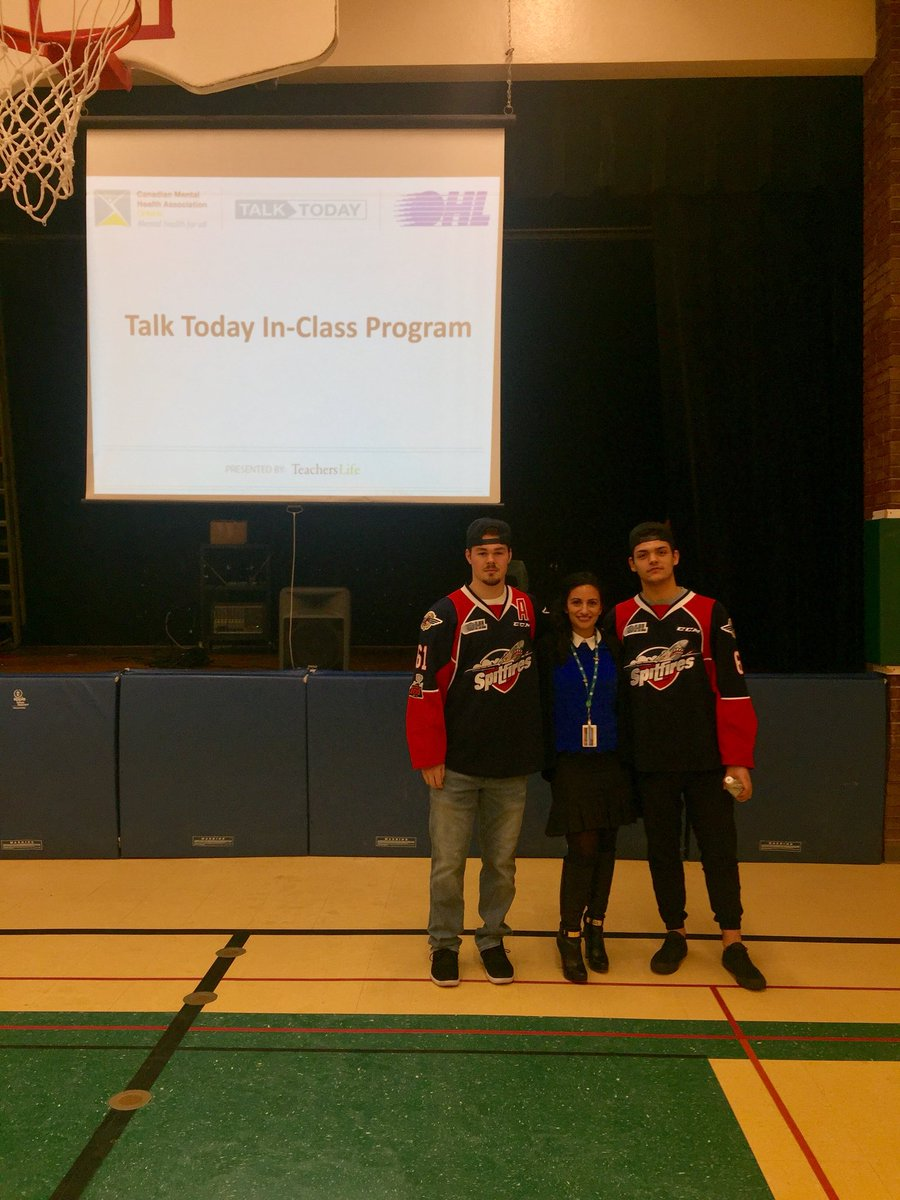 test Twitter Media - @CMHAWECB & @SpitsHockey about to present #talktoday @TeachersLifeCAN @AVG_Griffins @CMHAOntario @OHLHockey https://t.co/4urqF3GJK0