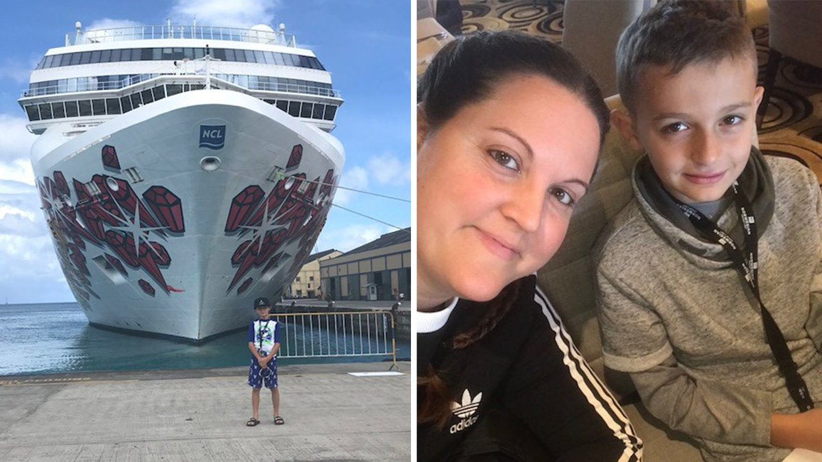 Mom, son stuck in Barbados over a week after cruise ship breaks down