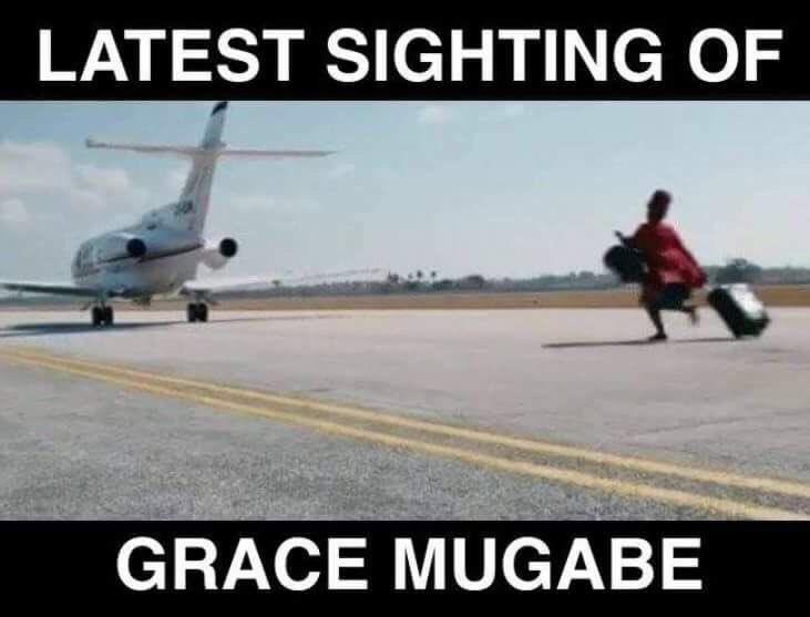 Grace leaving Harare like... 😅😂 #Zimbabwe #Mugabe