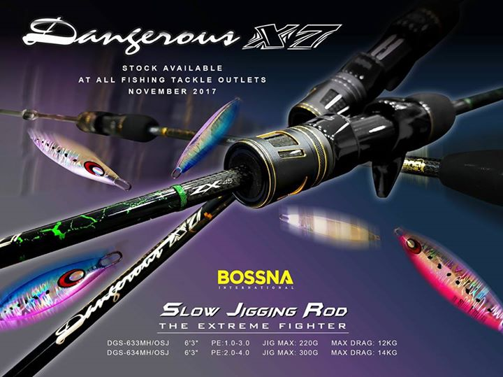 Bossna Dangerous X7 ZX45 Slow Jigging Rod Rod Weight 148g Only with Dragmax Up t ... | #carpfishing