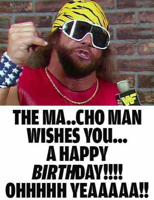 Happy Birthday to thr late great Macho Man Randy Savage. @