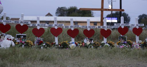 Thousands pack Texas church shooting family funeral service