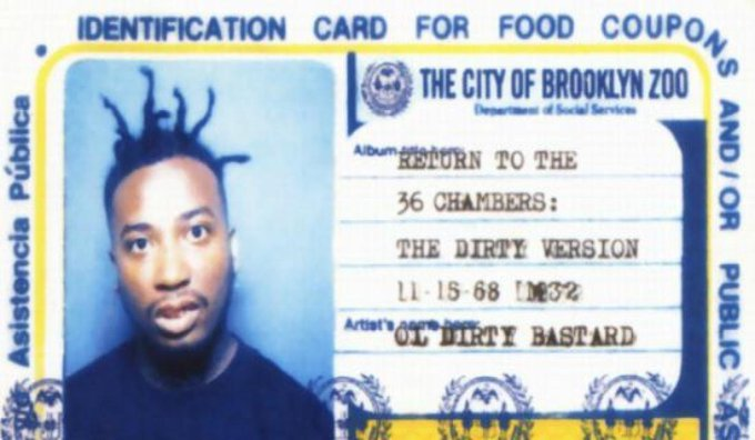 Happy birthday to Brooklyn-born, hip hop legend, Ol\ Dirty Bastard. May he RIP.