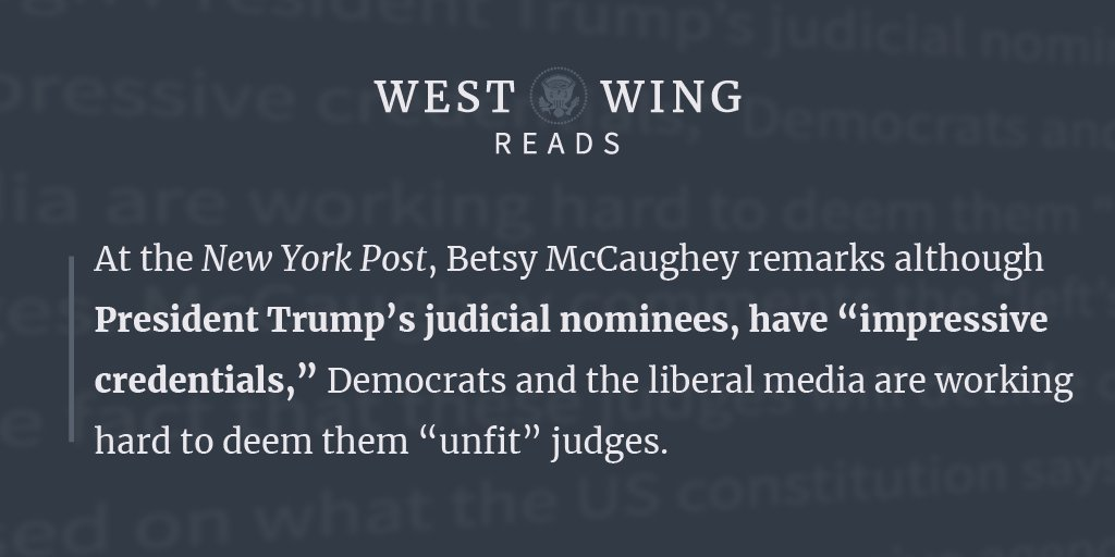 Here is what the West Wing staff is reading today