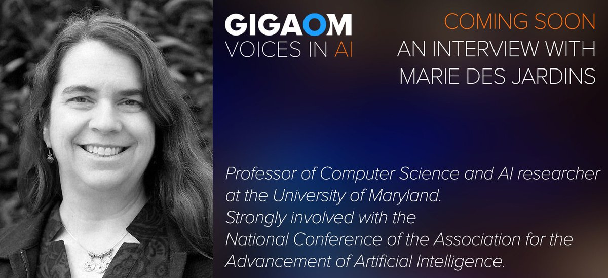 test Twitter Media - Coming soon to @VoicesinAI Marie des Jardins talks with @byronreese about the Turing test, #Watson , #selfdrivingvehicles, and language processing. #AI @mariedj17 https://t.co/HRBCm2cjFg