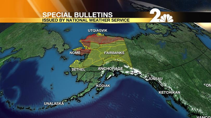 Winter storm causes warnings and advisories across much of Alaska