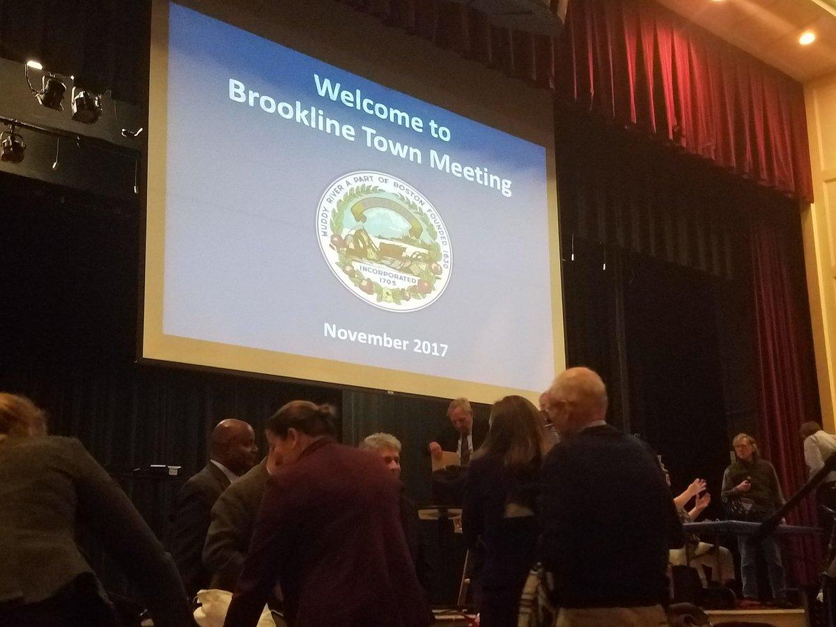 #BrooklineTownMeeting