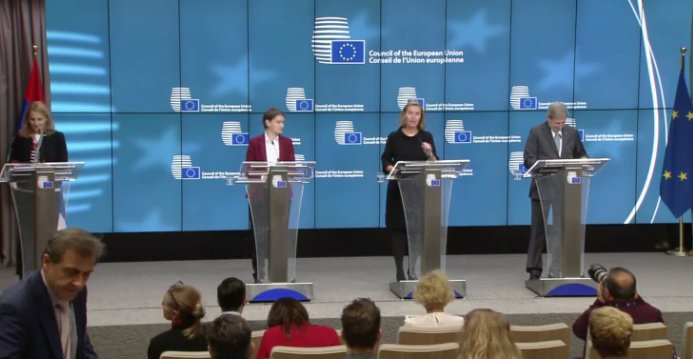 test Twitter Media - 🇪🇺🇷🇸Happening now! Press conference with @FedericaMog, @JHahnEU & @SerbianPM following today's #EU-#Serbia Stabilisation and Association Council. LIVESTREAM➡️ https://t.co/HWjoY0mQS9 https://t.co/495YMYglvG