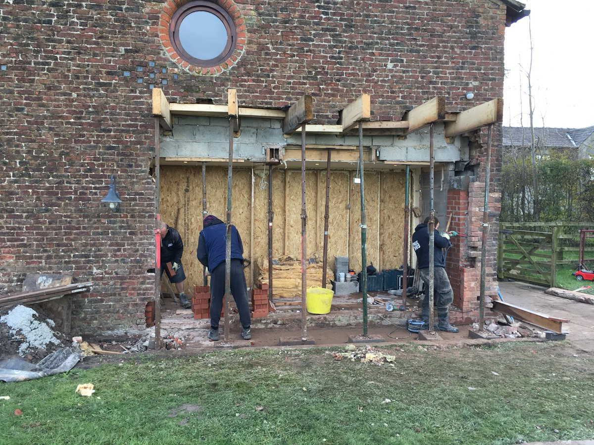 test Twitter Media - Client wants bi-fold doors in their barn, the problem is that it is 4 bricks thick, what do you do? - Call the Paul Ennis small works team! https://t.co/3yp6AscJBb