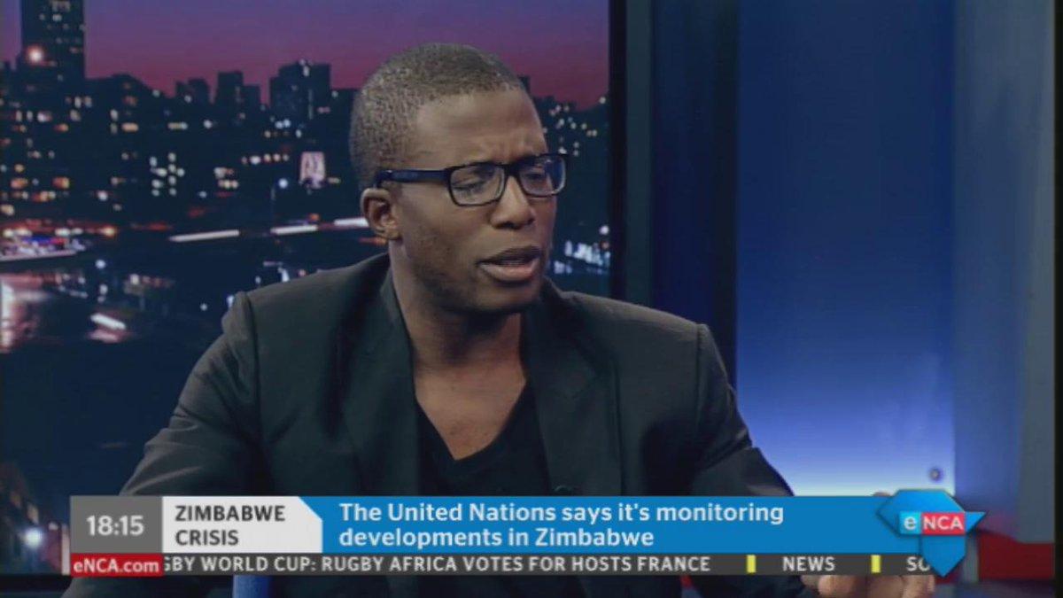 [WATCH] Viva Zimbabwe leader, Acie Lumumba, on the current situation in #Zimbabwe. Courtesy #DStv 403