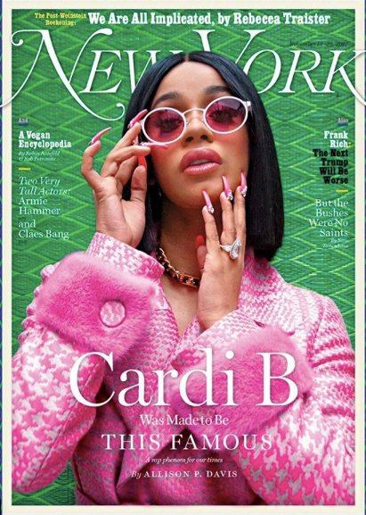Rap sensation @ImCardiB in #FendiResort18 on the cover of @NYMag by Hassan HajjajRap https://t.co/e8CwadT82H