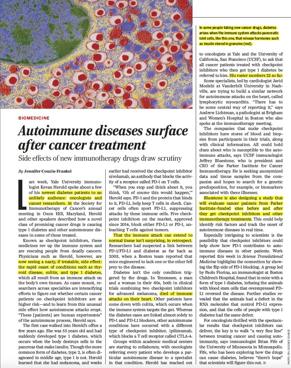 test Twitter Media - We're learning a lot more about checkpoint inhibitors for #cancer (PD-L1) unleashing autoimmune diseases #T1D #diabetes ++ https://t.co/egvX9FhnmO by @jcouzin @sciencemagazine  https://t.co/B88yVZfMC7 @ScienceTM https://t.co/rQuQ0XveMq