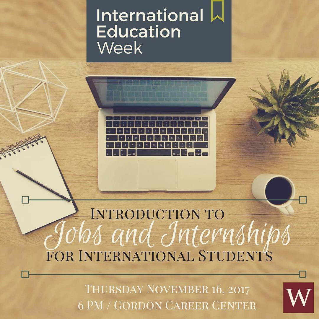 test Twitter Media - Tonight at 6pm: Introduction to Jobs and Internships for International Students, at @WesCareerCenter #IEW2017 🌎   https://t.co/hYfFEzy4MZ https://t.co/ayoHkfv8Qu