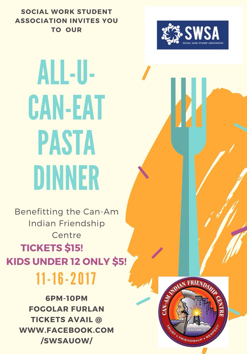 test Twitter Media - @UWindsor social work student association invites you to all-u-can-eat pasta dinner tonight!!!! https://t.co/dlhtUR6opK