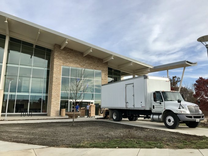 New furniture is arriving today at the #UISedu Student Union. Only 58 days until the @UISUnion opens it's doors! https://t.co/At1YDRvMhS