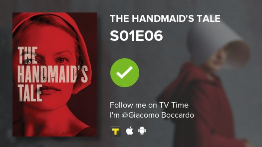 test Twitter Media - I've just watched episode S01E06 of The Handmaid's T...! #handmaidstale  #tvtime https://t.co/jCxWbu2Upd https://t.co/xoRdM9ob8j