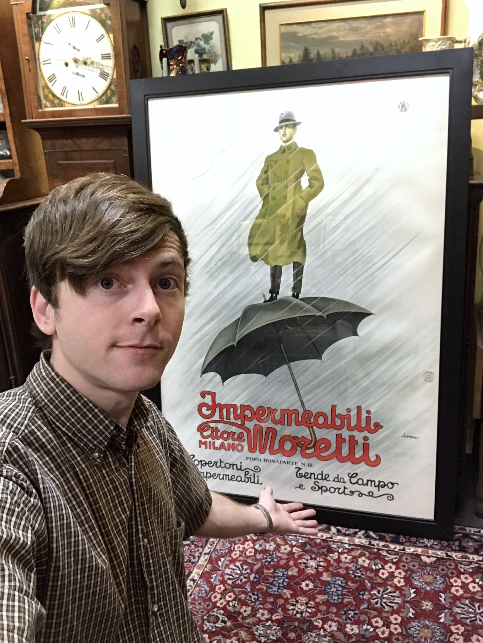 If you're looking for an antique Italian Raincoat advertisement.  I've got your wall covered.  ������☔️���� https://t.co/X5CMmHVVES