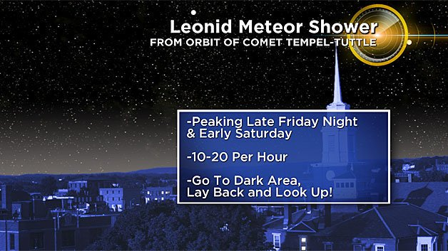 Friday Will Be Great Night To See Leonid Meteor Shower