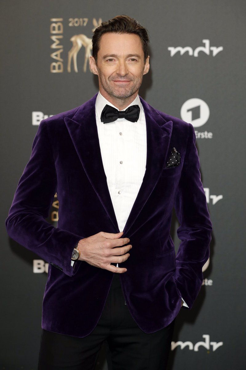 .@RealHughJackman wearing a Ralph Lauren Purple Label look to the #BambiAwards in Germany. https://t.co/sUf1Y1HTf1
