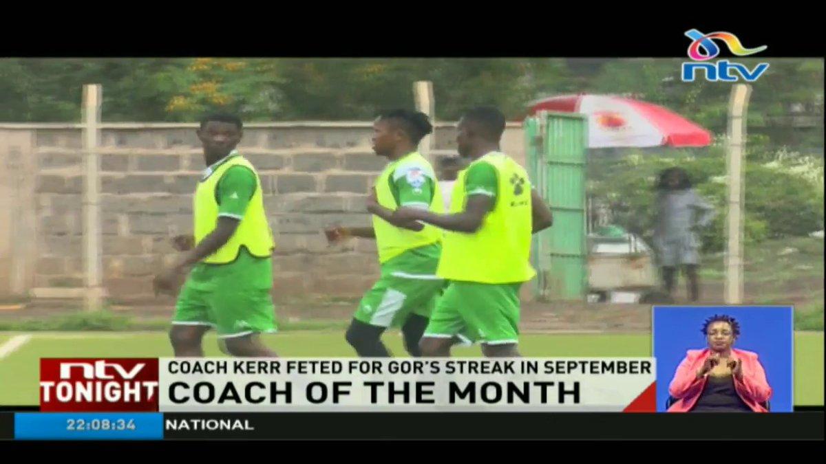 Gor Mahia coach named coach of the month