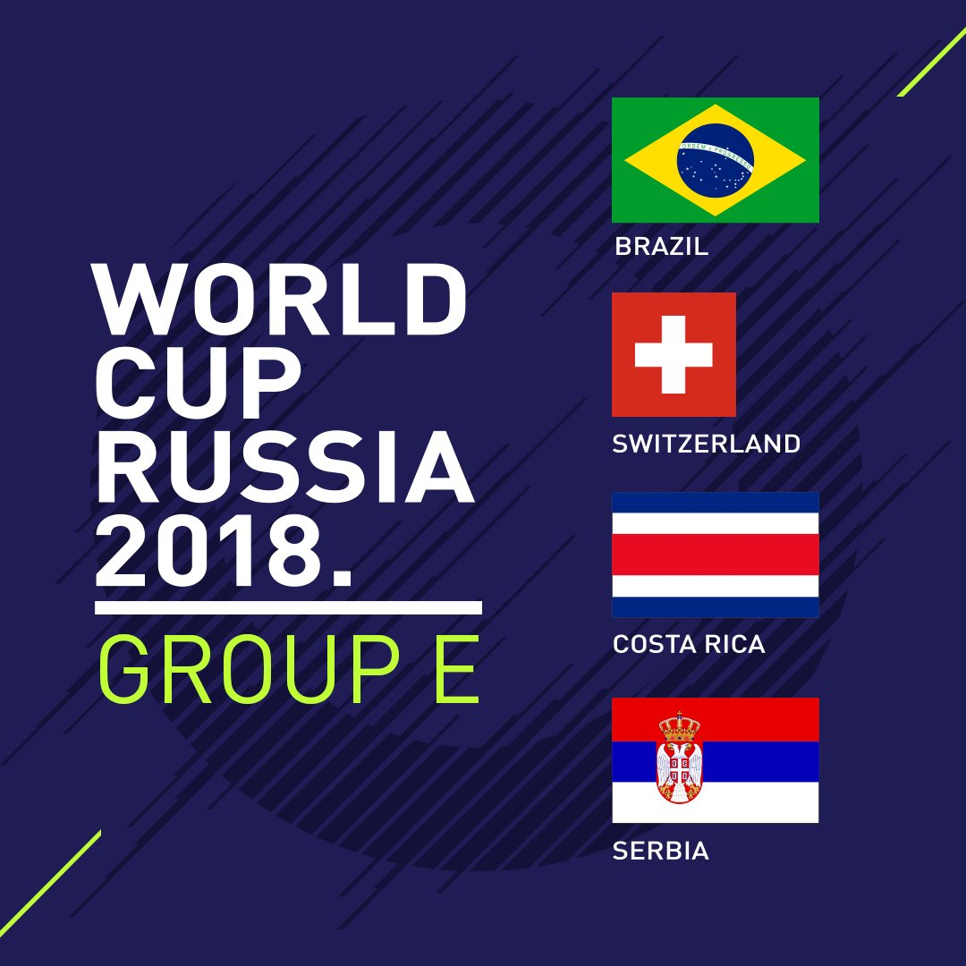 A battle for second place in Group E? #WorldCupDraw https://t.co/lcvvB2Hlth