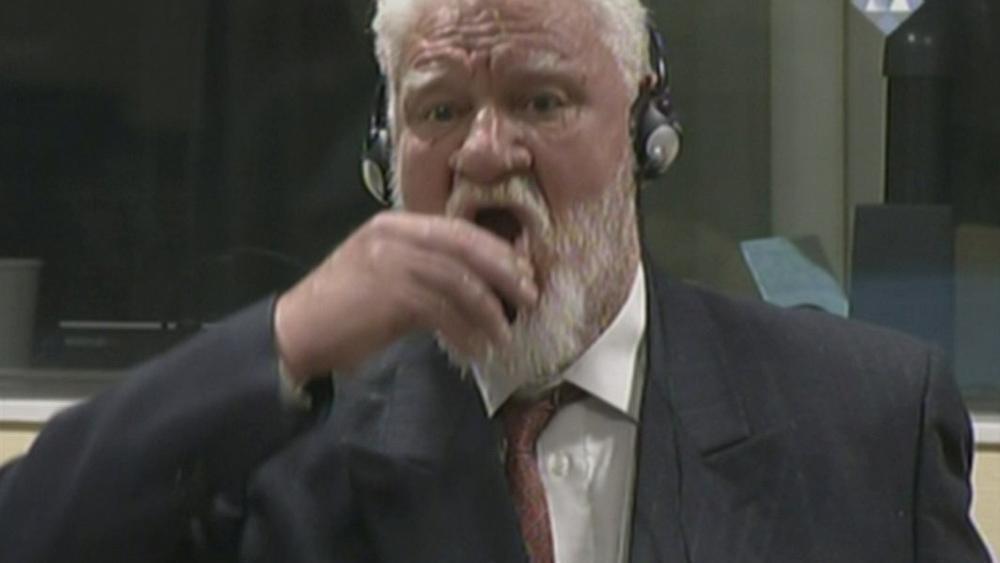 War criminal in the Hague but still a war hero in Croatia