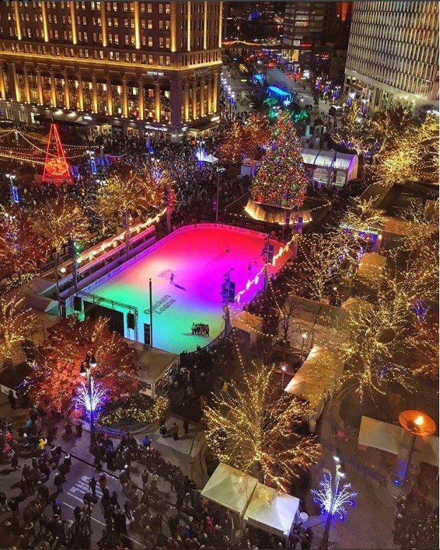 detroit #Detroit lights up for the...