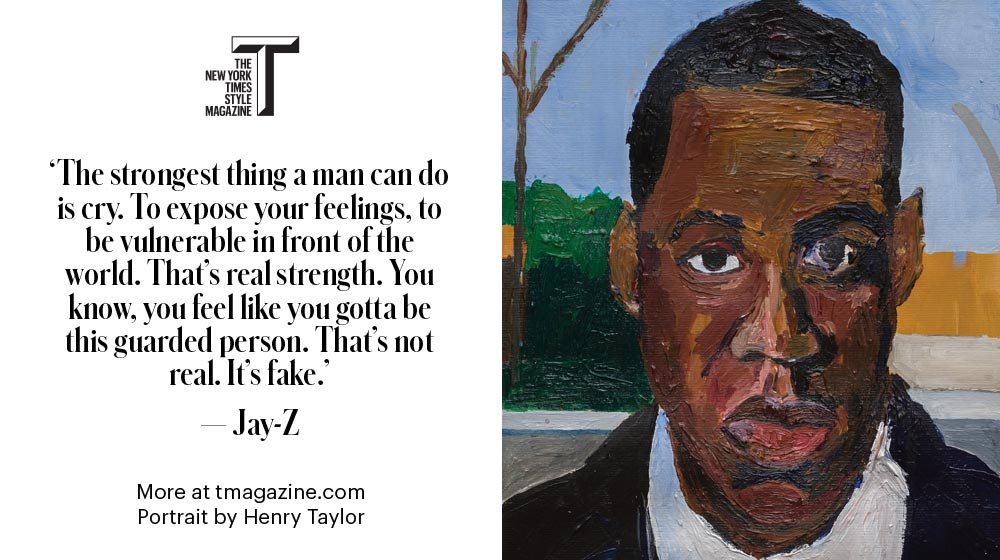 Jay-Z on strength: 'The strongest thing a man can do is cry.' https://t.co/kYtpj144CG https://t.co/FxONHg3L2W