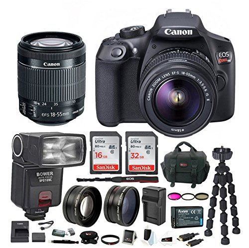Canon EOS Rebel T6 DSLR Camera w/ EF-S 18-55mm IS II Lens & Zoom TTL...