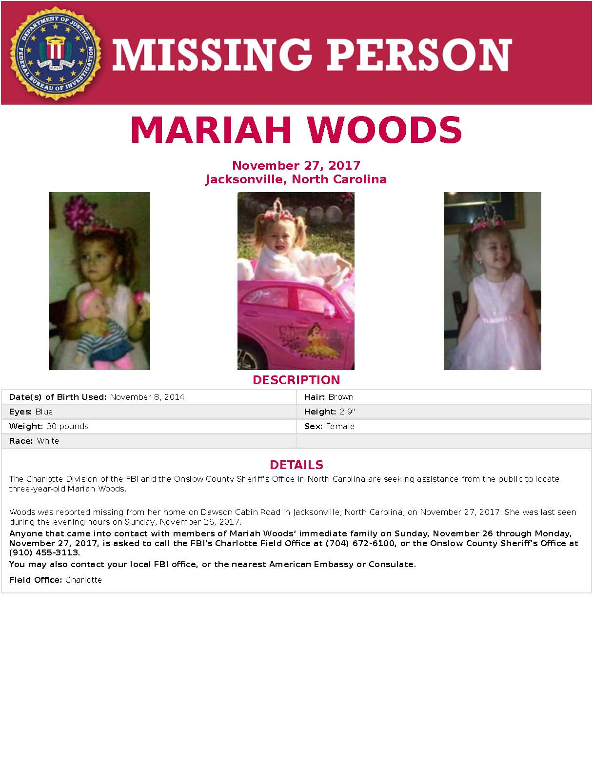 Intense search continues for Mariah Woods.  We know many of you want to help, we are working on plans for a volunteer search.  It will take a lot to organize, so please be patient.  Team Adam from the National Center for Missing & Exploited Children is here to assist. https://t.co/nhWqJvjF0k