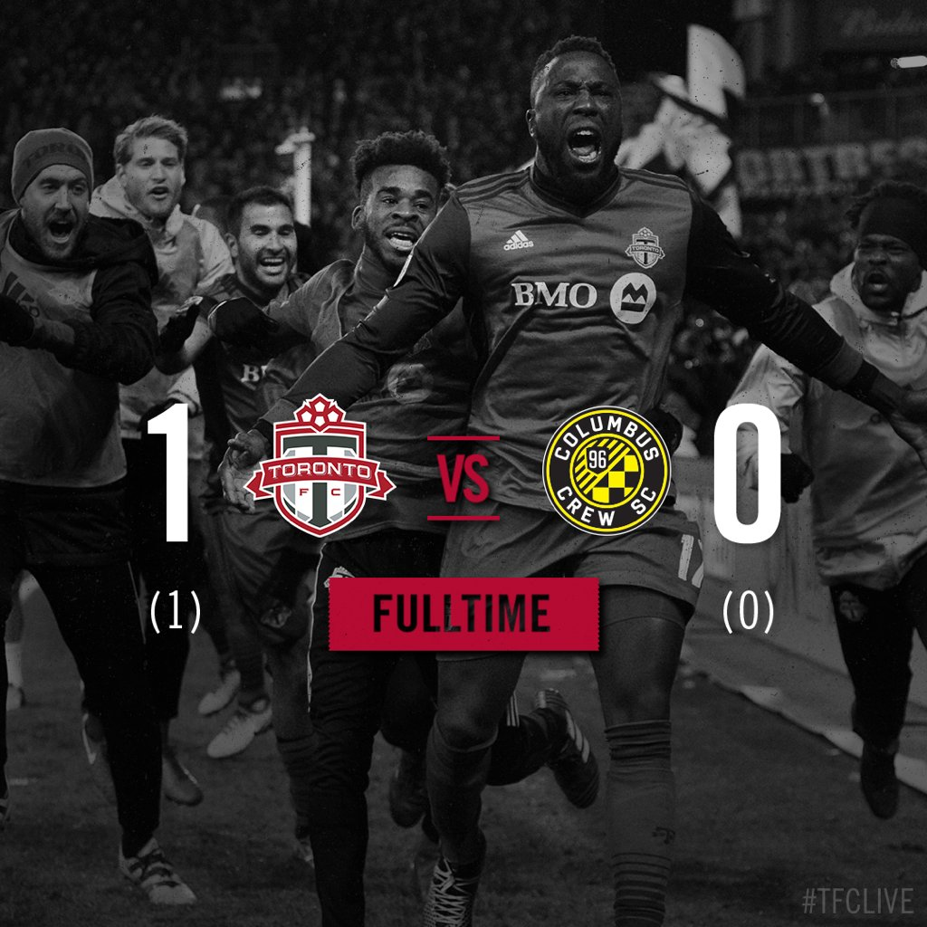 RT @torontofc: FT: MLS CUP HERE WE COME.  #TFCLive | #TORvCLB | 1-0 https://t.co/p67rlI3dge