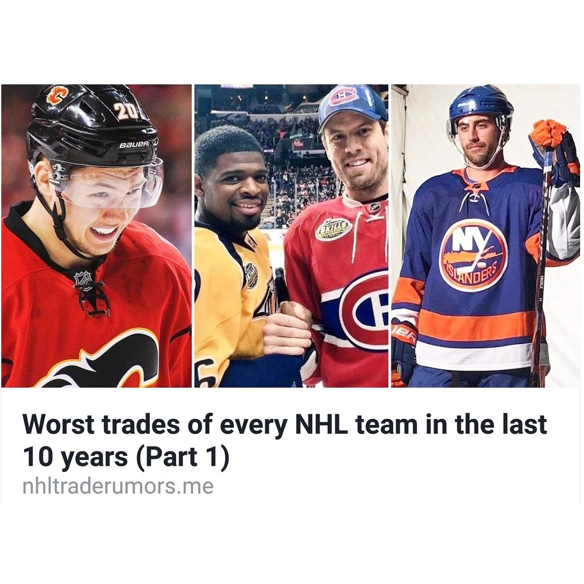 Worst Trades of Every #NHL Team in the Last 10 Years (Part 1) https://t.co/CJgop3BABP https://t.co/0aSUsIly7L