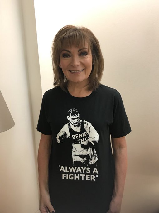Happy Birthday to Lorraine Kelly from Team Benny Lynch, thanks for your support!