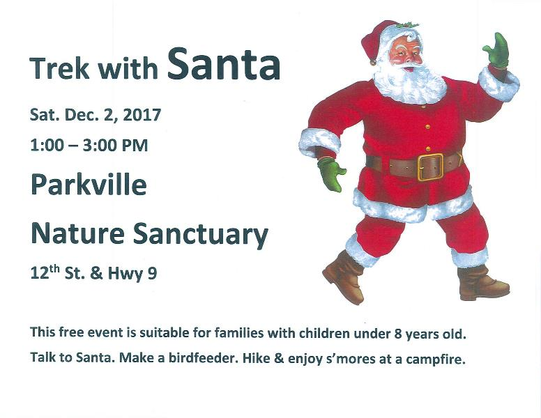 test Twitter Media - Don't forget! @parkvillemo Nature Sanctuary's annual Trek with Santa is this Saturday (12/2) from 1-3 p.m. This free event is suitable for families with children under 8 years old. Talk to Santa. Make a birdfeeder. Hike and enjoy s'mores at a campfire. https://t.co/dAbNakEc7J
