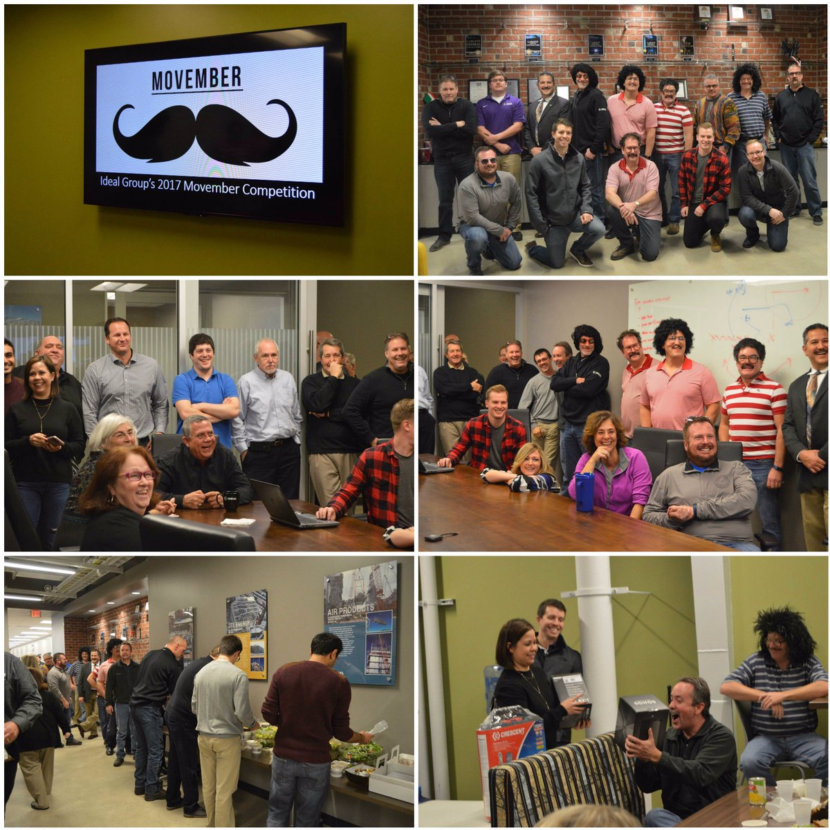 test Twitter Media - Ideal Group's 2017 Movember Contest was a huge success! Thank you to all employees who participated and helped put this together. Movember is about raising awareness of prostate cancer, testicular cancer and mental health in men. https://t.co/XEjL8U7pKw