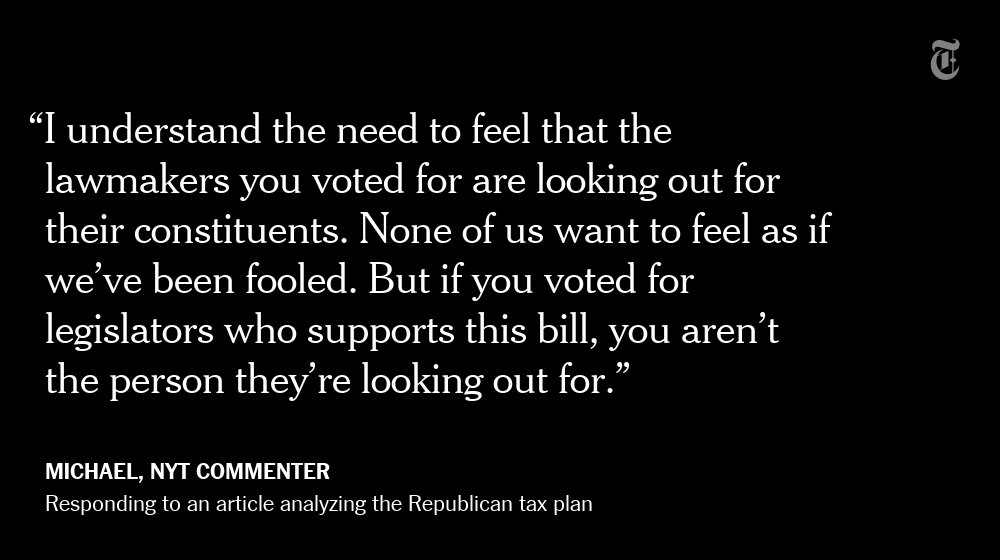 Another NYT reader's reaction to the Republican tax plan https://t.co/bd4R8Yxjdg https://t.co/m4zGOS7koP