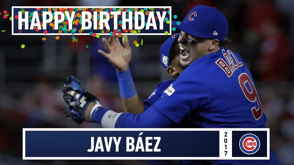 Join us in wishing a happy birthday to @javy23baez! https://t.co/LWXbRnkhQ1