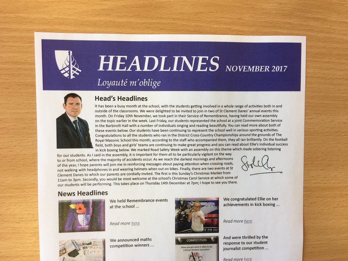 The latest news from Croxley Danes can be found in this month's Headlines - available to download here: https://t.co/MrmzcYQobg https://t.co/MuS9ECrcG3