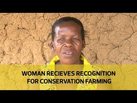 Woman receives recognition for conservation farming