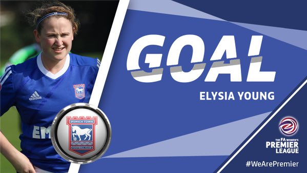 RT @IpswichTownLFC: 64: GOAL! Elysia Young's shot deflects in. 12-0 #ITLFC #ITFC https://t.co/FMe5usgcki