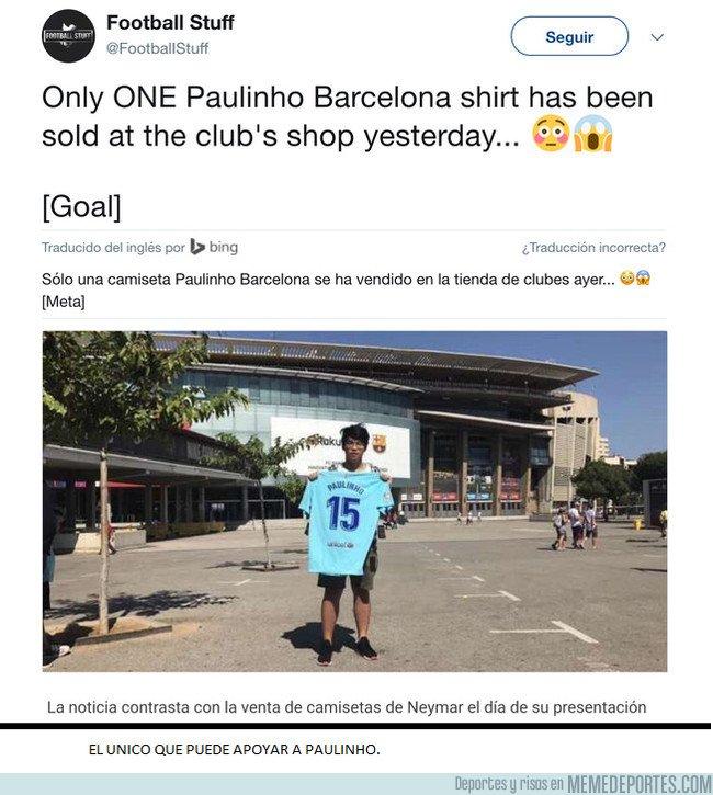El único que creyó en Paulinho, se merece un monumento