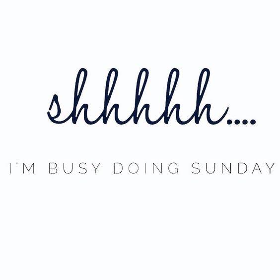 #SundayMorning