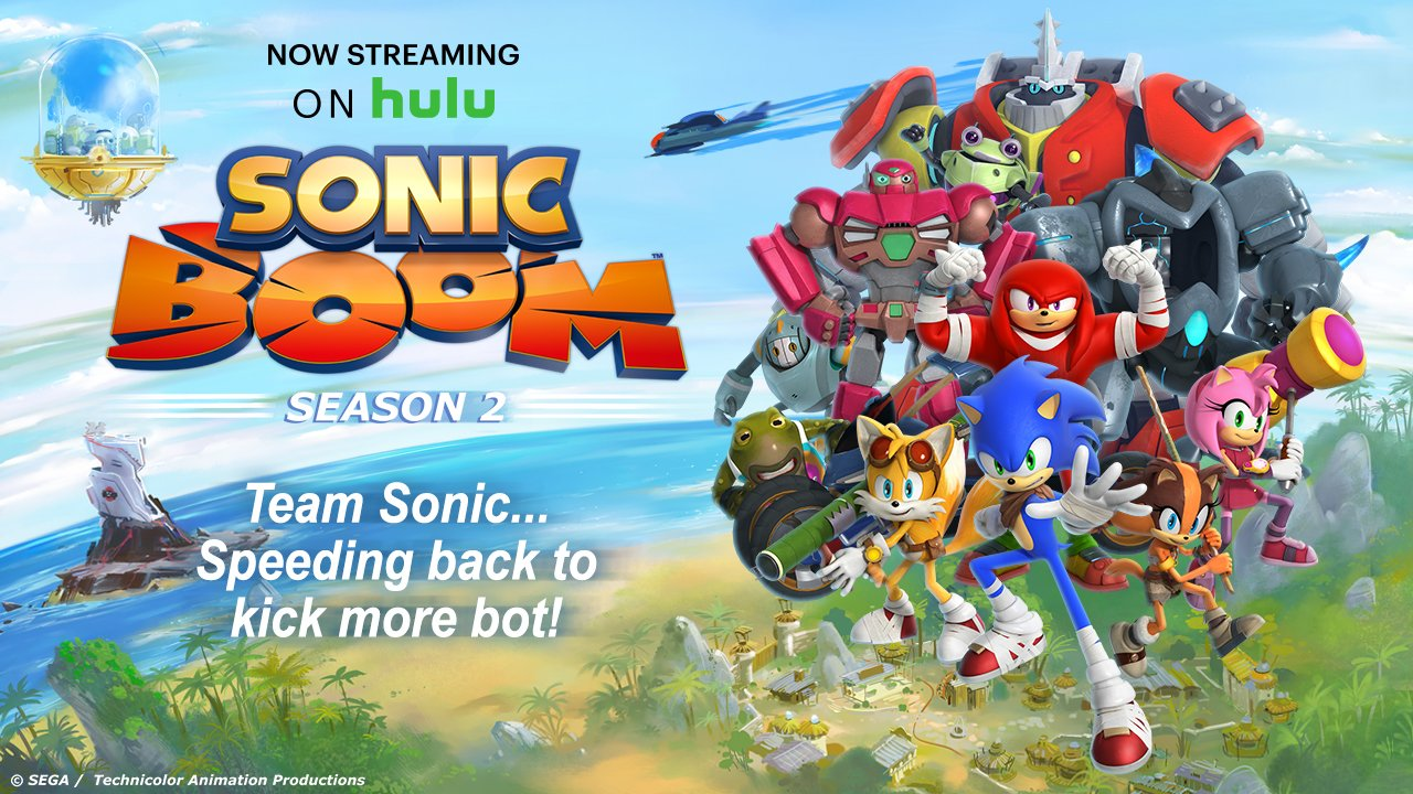 All 52 Episodes of Sonic Boom Season 2 are now on Hulu!  Let the binge-watching commence. https://t.co/dOMcZnUqpu